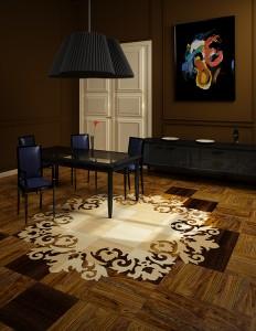 Интерьер комнаты в Москве в стиле Эклектика