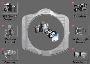 Рис. 2. Система творческих фильтров Cokin и принцип их крепления.