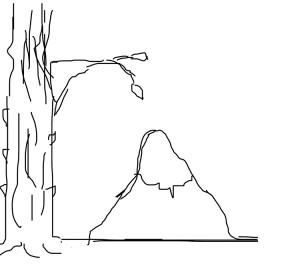 Композиционное равновесие в пейзаже. Вариант 1