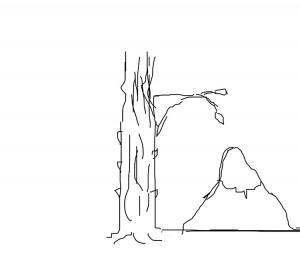 Комопозиционное равновесие в пейзаже. Вариант 2