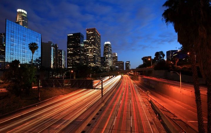 Съемка ночного города на длинной выдержке
