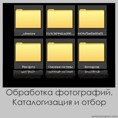 Каталогизация и отбор. Обработка фотографий