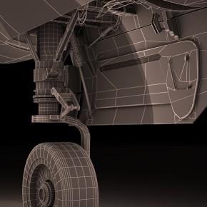 Моделирование шасси самолета по чертежам заказчика