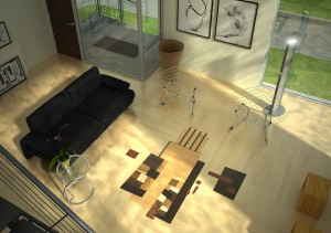 Interior visualization according to the design of the customer