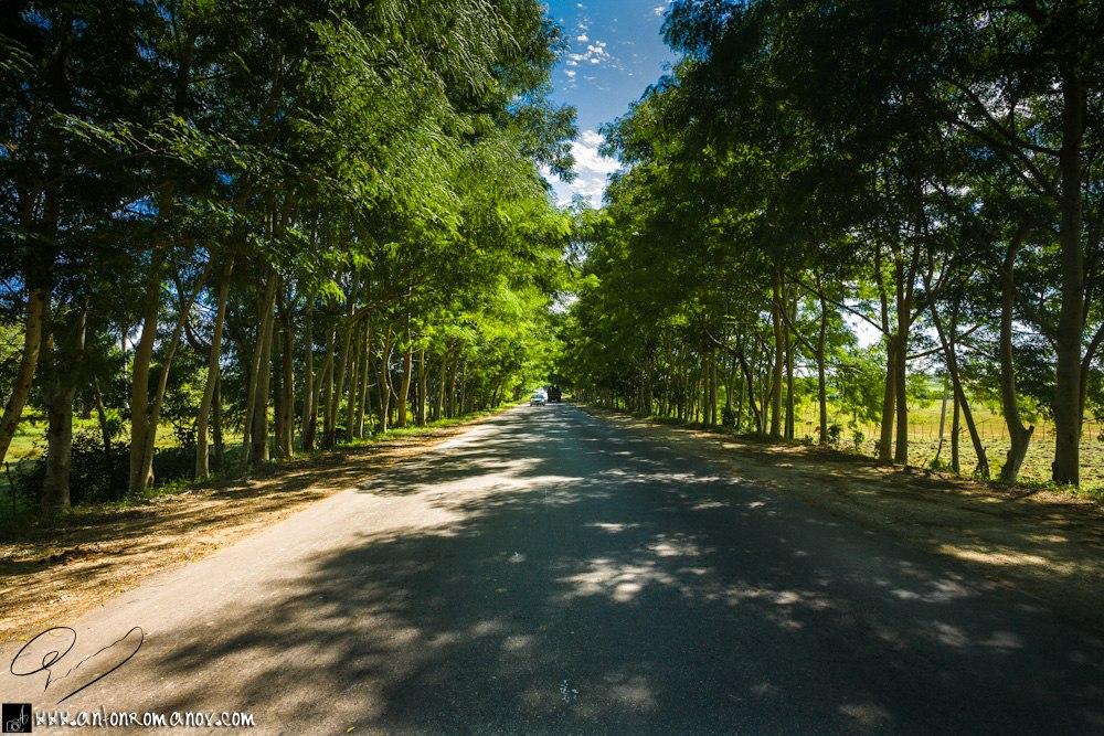 La carretera de Cienfuegos a Trinidad