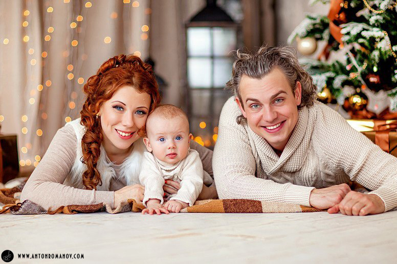Новогодняя семейная фотосессия цена