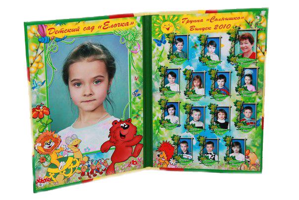 папка для фотографий на выпускной детского сада