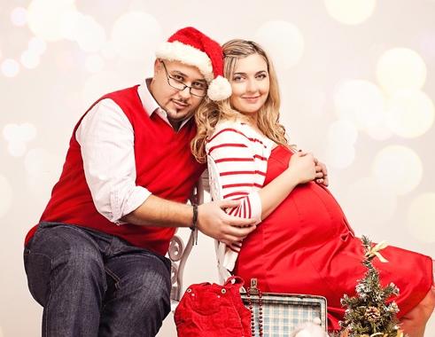 Фотосессия беременных в новогоднем стиле