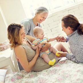 Фотосессия беременной с ребенком