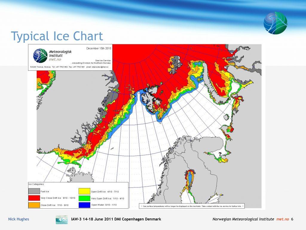 Ледовая обстановка на август 2020 по данным Норвежского Метеорологического Института